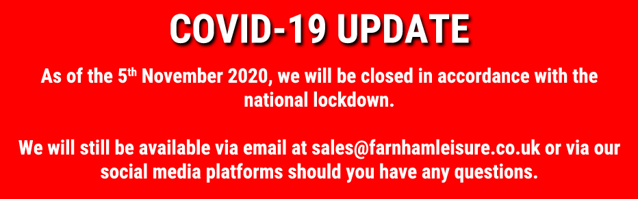 We will be closed with national lock down