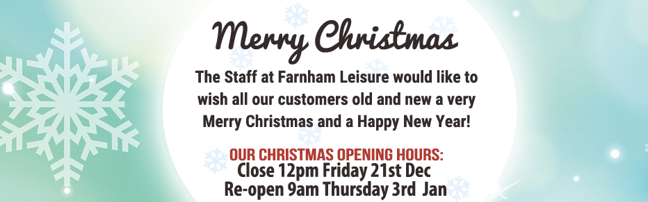 Christmas and New Year at Farnham Leisure